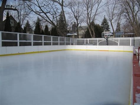 backyard rink portable refrigerated rink on a