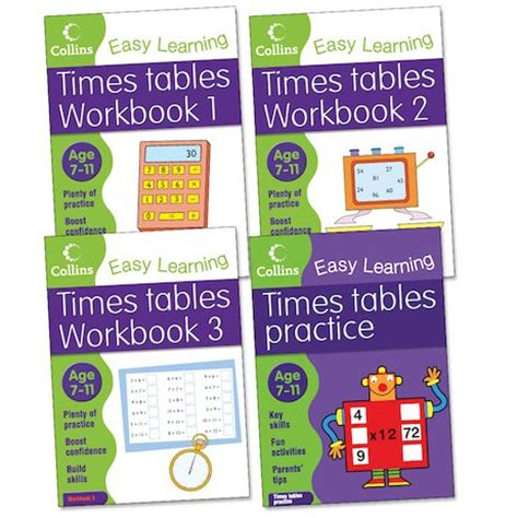 collins easy learning times tables pack ages 7 11