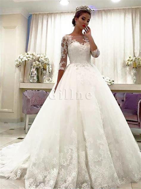 Brautkleider 3 4 Lang by Duchesse Linie Normale Taille Gericht Schleppe T 252 Ll 3 4