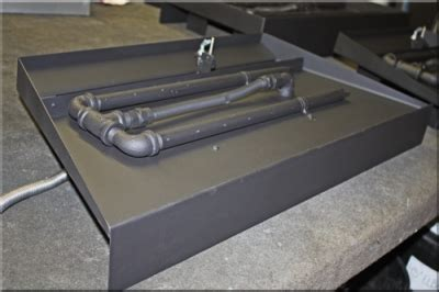 diy pit burner pan custom propane burners for fireplaces and pits made to order fireplace burners