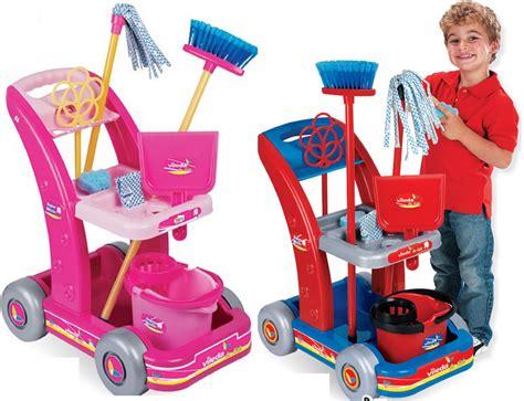 Cleaning Set vileda childrens pretend play brush mop cleaning cleaner trolley set ebay