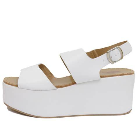 Sandal Rotelli Size 36 Authentic dolcis white flat form platform chunky sandals wedge shoes sizes 3 8 ebay