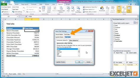 Change Table Name How To Change Column Label In Excel 2010 Excel Tutorial How To Rename Fields In A Pivot
