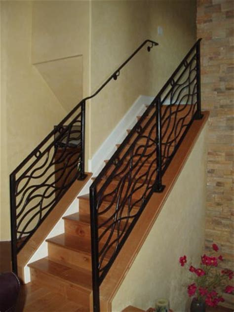 Portable Stairs With Handrail Handrail And Hand Forged Railing Combination Mclean