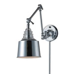 Lowes Outdoor Light - shop westmore lighting 18 in h polished chrome swing arm casual transitional led wall mounted
