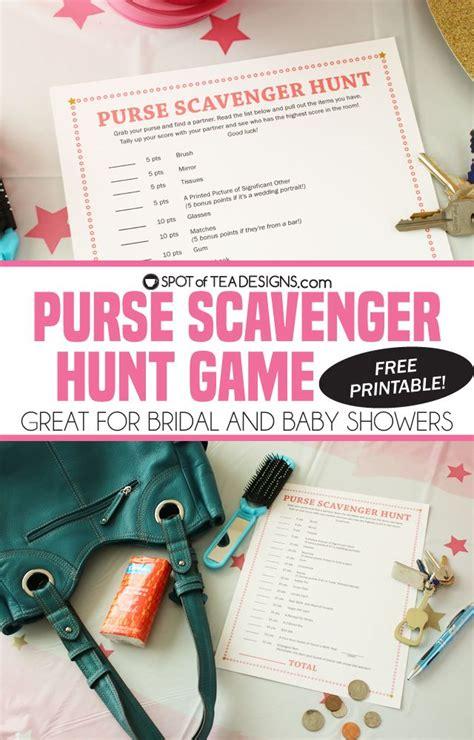 printable bridal shower purse scavenger hunt best 25 purse scavenger hunts ideas on pinterest city