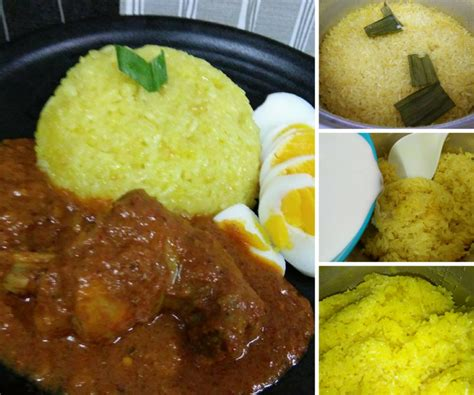 cara buat nasi kuning rice coker cara masak pulut kuning guna rice cooker mudah 1 2 jam