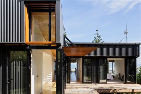 shed architectural style offset shed house in new zealand by irving smith architects