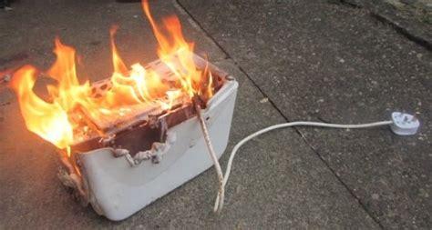 Burning Toaster nearly burned house trying something she saw on