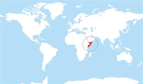 somalia located   world map