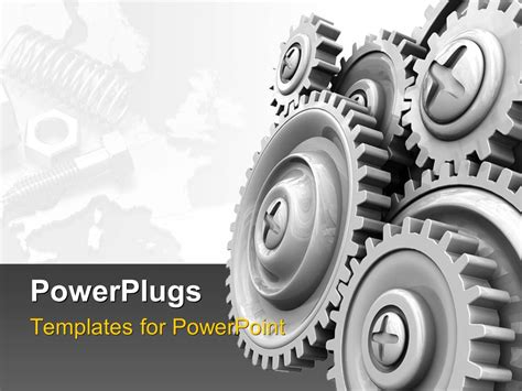 mechanic gears and wheels powerpoint template background powerpoint template industral theme with gear wheels and
