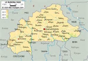 Carte du Burkina Faso Club des Voyages