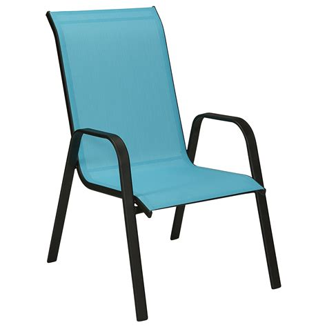 Blue Patio Chairs Essential Garden Bartlett Assorted Stack Chair Blue Outdoor Living Patio Furniture Chairs