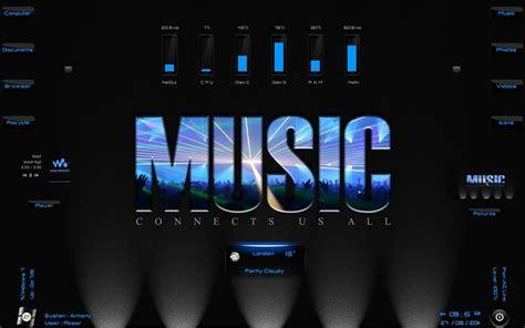 download themes windows 7 music music lights rainmeter theme for windows7