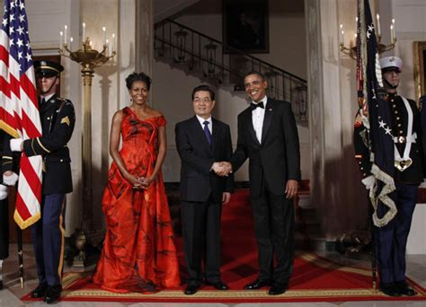 the first ladys trip to china the white house president hu attends obama s state dinner china org cn