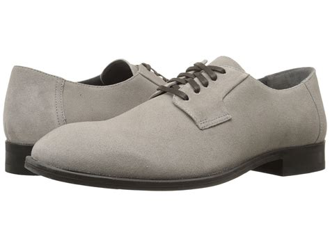 calvin klein shayne toffee suede emboss mens lace up