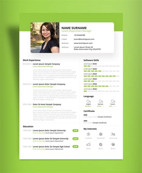 beautiful resume templates free beautiful resume cv design template psd ppt file