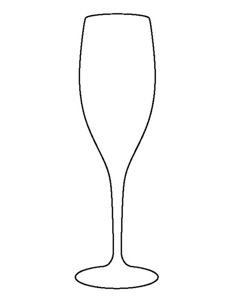 wine glass template chagne glass pattern use the printable outline for