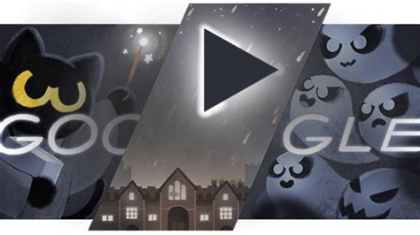 google images of halloween halloween google doodle treats searchers to magic cat