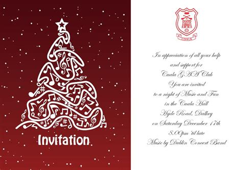 a christmas invitation from an coiste cuala gaa