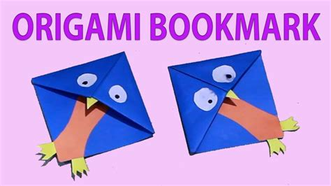 Origami Owl Bookmark - origami bookmarks easy paper owl corner