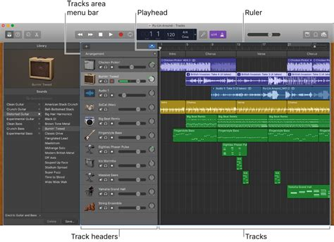 Garageband Track Garageband For Mac Tracks Area