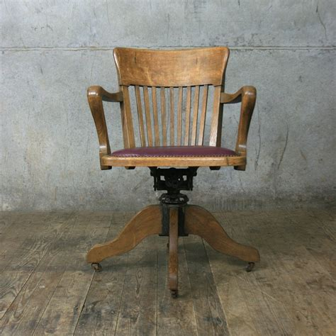 antique wooden swivel desk chair parts vintage oak swivel desk chair mustard vintage