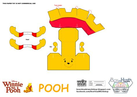 Disney Papercraft Templates - boxes header workshop disney winnie the pooh