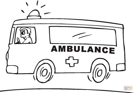 Ambulance Coloring Page Free Printable Coloring Pages Vehicle Coloring Pages