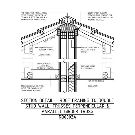 truss section detail mrtfc building class 1a townhouses woodsolutions