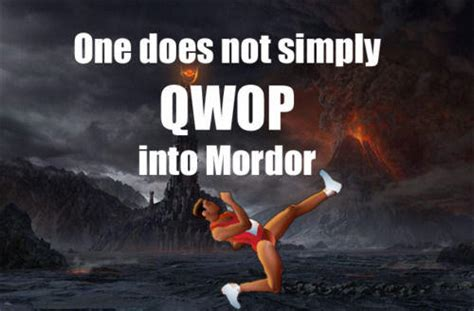 Qwop Meme - one does not simply walk into mordor know your meme