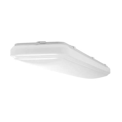 Rectangular Ceiling Lights Hton Bay 4 Ft X 1 Ft White Led Rectangular Ceiling Flushmount 54647141 The Home Depot