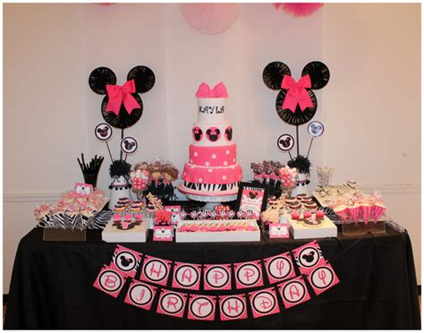 Minnie Mouse Birthday Decorations by Real Pink Zebra Minnie Mouse Inspired 1st