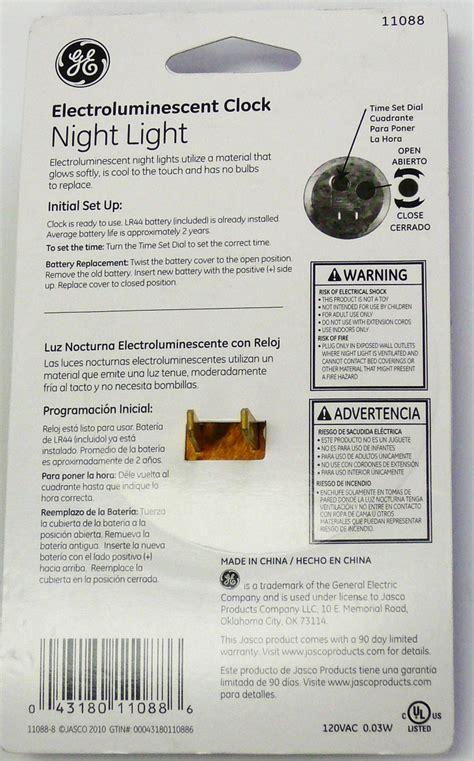 ge light clock ge 11088 wood clock light ebay