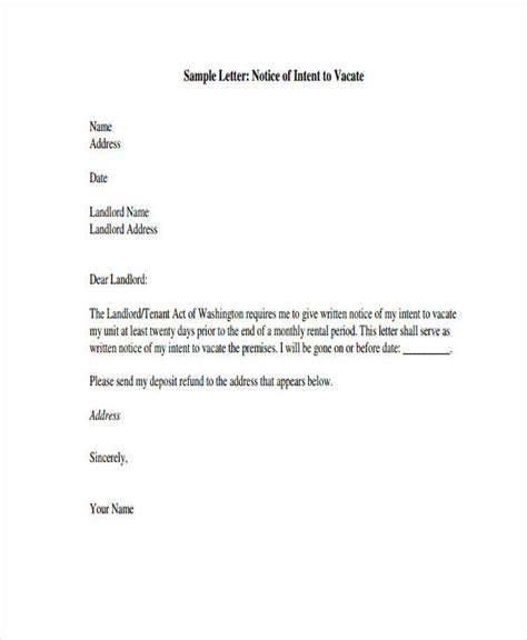 2 week notice letter exles notice of leaving template 28 images resignation