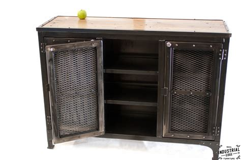 Custom Locking Wine Cellar Cabinet / Steel & Reclaimed Oak