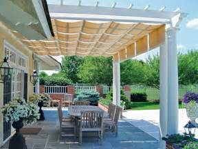 covered pergola enhances beauty and grandeur of home