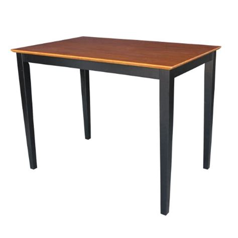 international concepts solid wood dining table with shaker