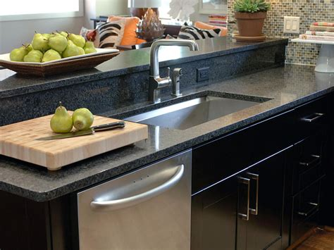 the counter kitchen sinks choosing the right kitchen sink and faucet hgtv