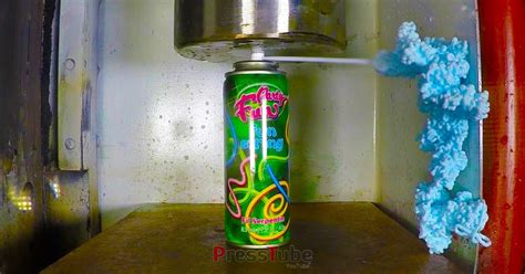 Silly String - silly string getting crushed by a hydraulic press bob s
