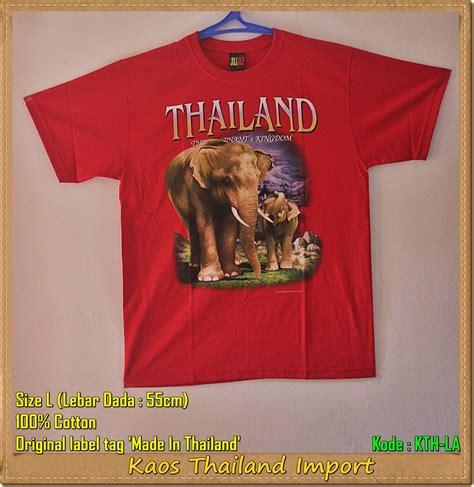 Kaos 3d Import Thailand jual kaos gajah thailand all size m l xl original import wolipoli