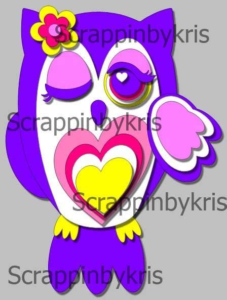 Cutie Owl scrappinbykris another owl to cutie owl