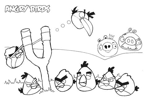 coloring pages with angry birds free printable angry bird coloring pages for kids