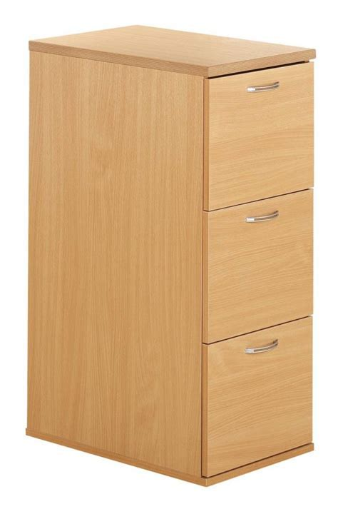 Deluxe Wood 3 Drawer Filing Cabinet