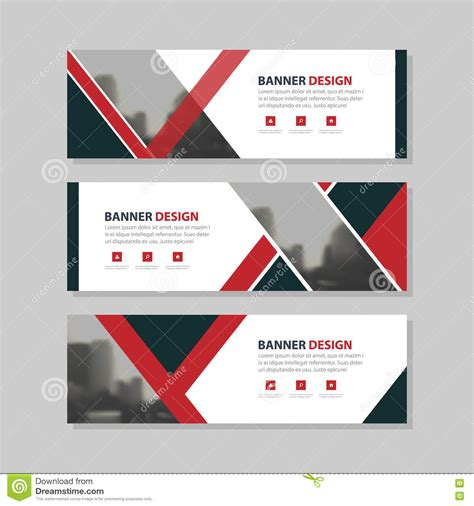 horizontal layout web design red black triangle abstract circle corporate business