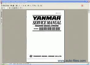yanmar marine diesel engine 4lha series repair manuals
