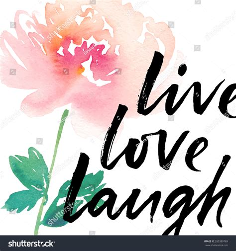 live and laugh live laugh ink lettering abstract