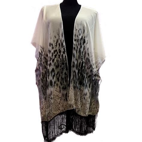 Shirt Jewelry Import kb00016 wholesale apparel kimono blouse with beige black