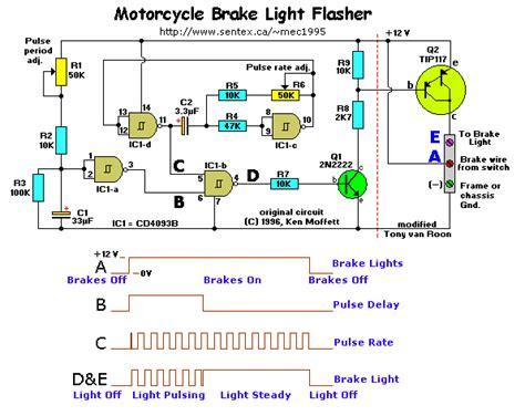 motorcycle brake light flasher circuit wiring diagrams