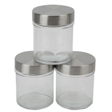 best kitchen canisters hell s kitchen storage set 3 piece screw top glass